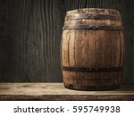 Wooden Barrel For Wine With...