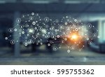 connection technologies for...   Shutterstock . vector #595755362
