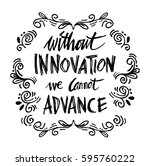 without innovation we cannot... | Shutterstock .eps vector #595760222