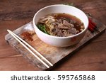 beef noodles braised taste... | Shutterstock . vector #595765868