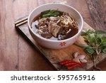 beef noodles braised taste... | Shutterstock . vector #595765916