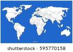 world country map vector | Shutterstock .eps vector #595770158