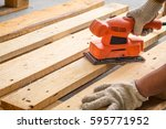wood sanding machines  ... | Shutterstock . vector #595771952