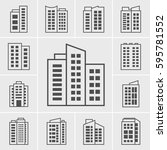 icons building vector... | Shutterstock .eps vector #595781552