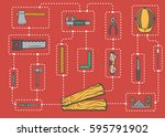 carpentry professional service... | Shutterstock .eps vector #595791902