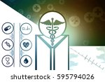 2d illustration health care and ... | Shutterstock . vector #595794026