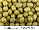green olives background | Shutterstock . vector #595794785