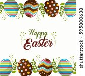 easter eggs day icon | Shutterstock .eps vector #595800638