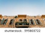 traditional buildings in jaffa  ... | Shutterstock . vector #595803722