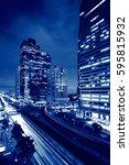 sathorn intersection  bts chong ... | Shutterstock . vector #595815932