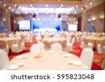 blurred soft of banquet room... | Shutterstock . vector #595823048