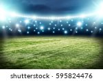 football pitch background  | Shutterstock . vector #595824476