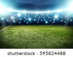 football pitch background  | Shutterstock . vector #595824488