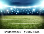 football pitch background  | Shutterstock . vector #595824536