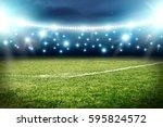 football pitch background  | Shutterstock . vector #595824572