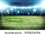 football pitch background  | Shutterstock . vector #595824596