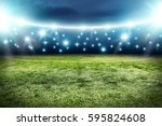 football pitch background  | Shutterstock . vector #595824608