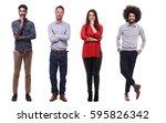 full body group of people | Shutterstock . vector #595826342