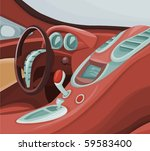 picture of a car interior | Shutterstock .eps vector #59583400