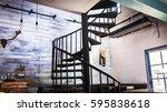 Spiral Wooden Staircase...