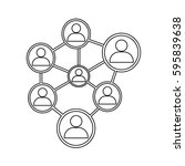 people network icon | Shutterstock .eps vector #595839638