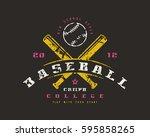 emblem of baseball championship....   Shutterstock .eps vector #595858265