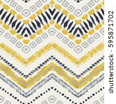 tribal ethnic seamless pattern. ... | Shutterstock .eps vector #595871702