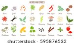big vector set of popular fresh ... | Shutterstock .eps vector #595876532