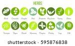 big icon set of popular... | Shutterstock .eps vector #595876838