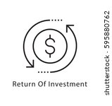 return of investment vector... | Shutterstock .eps vector #595880762