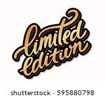 limited edition label. | Shutterstock .eps vector #595880798