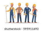 construction staff characters... | Shutterstock .eps vector #595911692