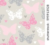 beautiful butterfly pattern, wrapping paper, bedding pattern vector illustration