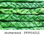green onions braided in braids. ...   Shutterstock . vector #595914212