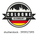 symbol  german city  with... | Shutterstock .eps vector #595917395