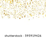 gold star vector. shine... | Shutterstock .eps vector #595919426