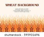 wheat ears background.... | Shutterstock .eps vector #595931696