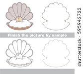 drawing worksheet for preschool ... | Shutterstock .eps vector #595943732