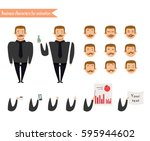emotion faces.emoji face icons. ... | Shutterstock .eps vector #595944602