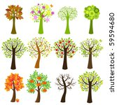 collection of trees  isolated... | Shutterstock .eps vector #59594680