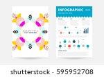 memphis geometric background... | Shutterstock .eps vector #595952708