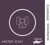 bow icon | Shutterstock .eps vector #595965572