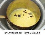 preparation recipe chantilly... | Shutterstock . vector #595968155