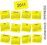 2011 calendar | Shutterstock .eps vector #59598202
