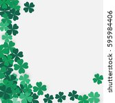 happy saint patrick's day... | Shutterstock .eps vector #595984406