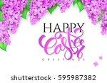 vector illustration of easter... | Shutterstock .eps vector #595987382