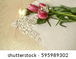 Red Tulips White White Rose An...