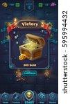monster battle gui victory... | Shutterstock .eps vector #595994432