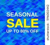 sale banner. seasonal offer... | Shutterstock .eps vector #596002442