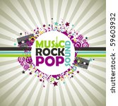 music colorful background. | Shutterstock .eps vector #59603932